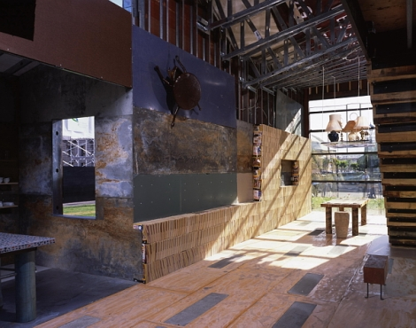 ScrapHouse - Interior (photo by Cesar Rubio - copyright Public Architecture 2005)