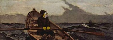 Homer Simpson in un quadro di Winslow Homer
