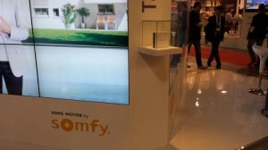 Somfy interactive booth at MADExpo Milan 2013