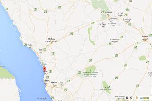 KAEC sulla mappa, a nord di Jeddah
