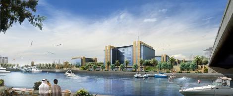 Un render progettuale della quay di KAEC City