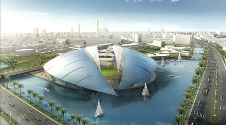 King Abdullah Economic City - stadium render